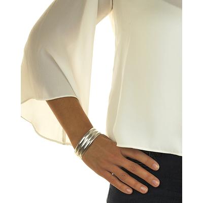 Bracelet jonc modèle TJO18 en zamak argent SHABADA
