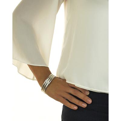 Bracelet jonc modèle TJO20 en zamak argent SHABADA