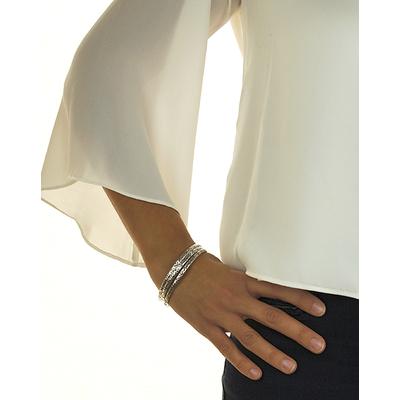 Bracelet jonc modèle GRENOUILLE en zamak argent SHABADA