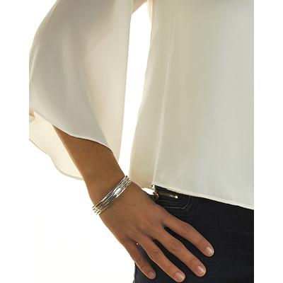 Bracelet jonc modèle BUG en zamak argent SHABADA