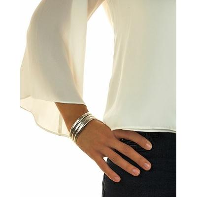 Bracelet jonc modèle MER CALME en zamak argent SHABADA