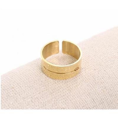 Bague réglable flèche doré Largeur 0.8cm cm acier inoxydable - Milë Mila