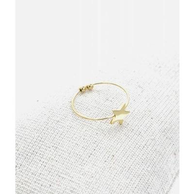 Bague réglable étoile doré pendentif H0.80cm L0.8cm acier inoxydable - Milë Mila