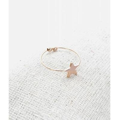 Bague réglable étoile or rose pendentif H0.80cm  L0.8cm cm acier inoxydable - Milë Mila