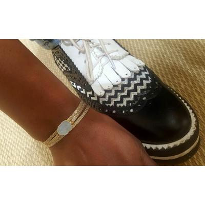 bracelet 3 brins fils d'or avec druzy LA BELLE SIMONE