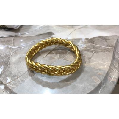 Bracelet épais tressé tibétain bouddhiste poudre d'or et huile dans un tube scellé – La Belle Simone Bijoux