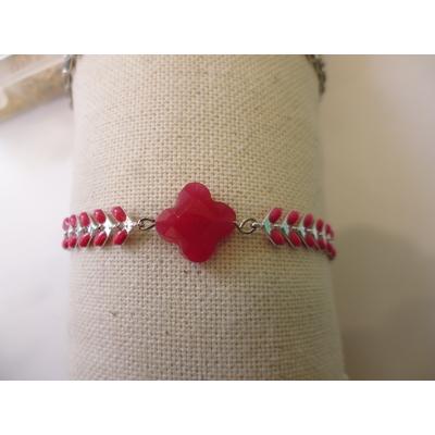 bracelet agate rouge et émail LA BELLE SIMONE