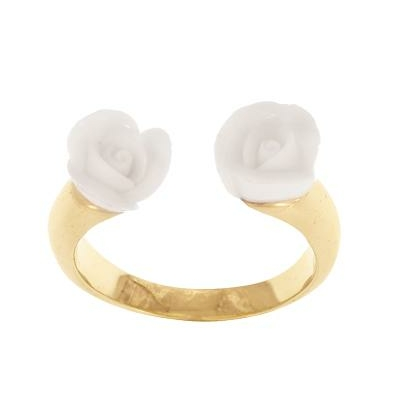 Bague ajustable face to face Rose blanche réf BB45 - Nach