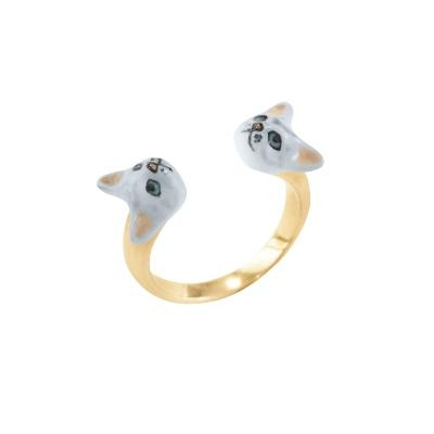 Bague Face to Face Chat Gris réf BB38 - Nach