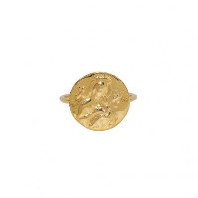 Bague dorée médaille sainte marie - lucky Team
