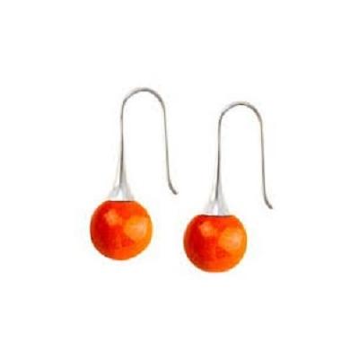 BO crochet céramique orange collection J'Adore- Gévole