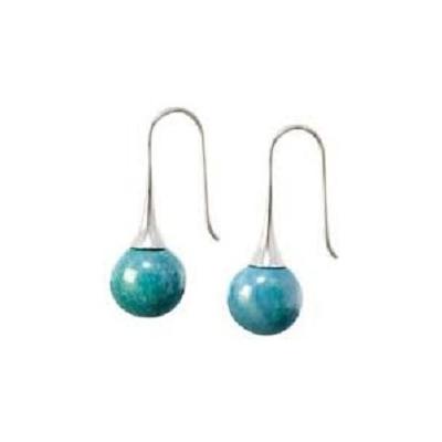BO crochet céramique turquoise collection J'Adore- Gévole