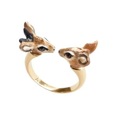 Bague Face To Face couple d'Antilopes naines BB58 - Nach