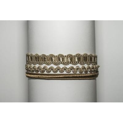 Bracelet 3 brins passementerie japonaise Couleur champagne La Belle Simone