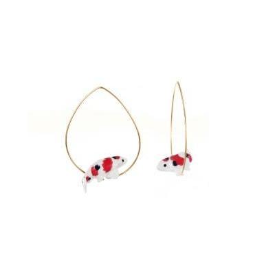 Boucles d'oreilles Créoles poisson rouge - Nach