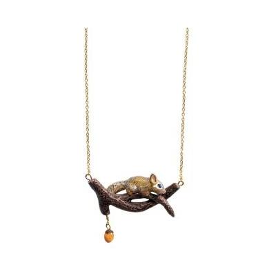Collier Écureuil sur une branche U164 - Nach