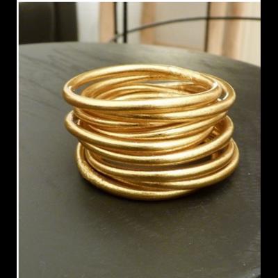 Bracelet ÉPAIS Ø6 jonc tibétain bouddhiste poudre d'or et huile dans tube scellé – La Belle Simone Bijoux