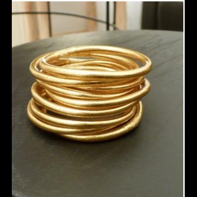 Bracelet ÉPAIS Ø7 jonc tibétain bouddhiste poudre d'or et huile dans tube scellé – La Belle Simone Bijoux