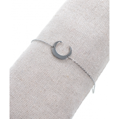 Bracelet demi-lune argent acier inoxydable Milë Mila