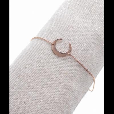 Bracelet demi-lune or rose acier inoxydable Milë Mila