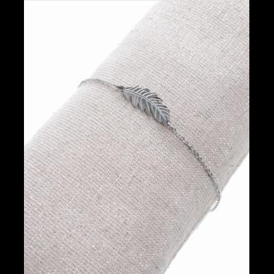 Bracelet feuille argent acier inoxydable Milë Mila