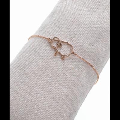Bracelet mouton or rose acier inoxydable Milë Mila