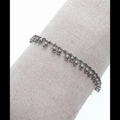 Bracelet pampilles argent acier inoxydable Milë Mila