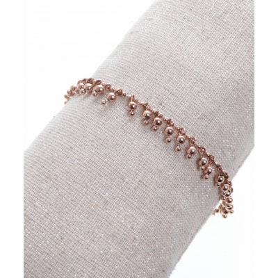 Bracelet pampilles or rose acier inoxydable Milë Mila