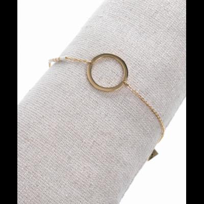 Bracelet rond perles blanches doré acier inoxydable Milë Mila