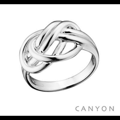 Bague argent 925 anneaux fins emmêlés - Canyon