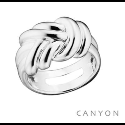 Bague argent 925 fils emmêlés formant un double noeud - Canyon
