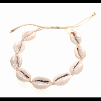 Bracelet cauri doré acier inoxydable Milë Mila