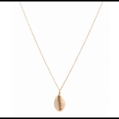 Collier cauri perles doré pendentif acier inoxydable Milë Mila