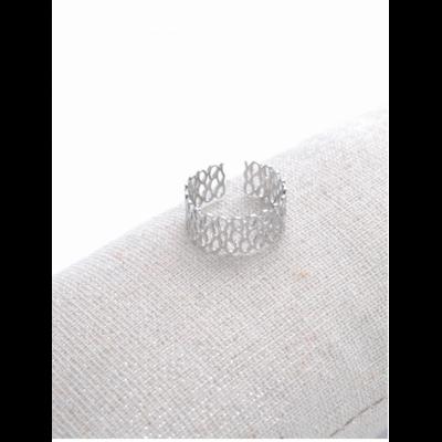Bague réglable infini argent Largeur 0.8 cm acier inoxydable - Milë Mila
