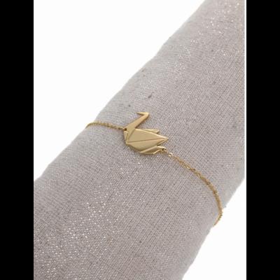 Bracelet cygne doré acier inoxydable Milë Mila