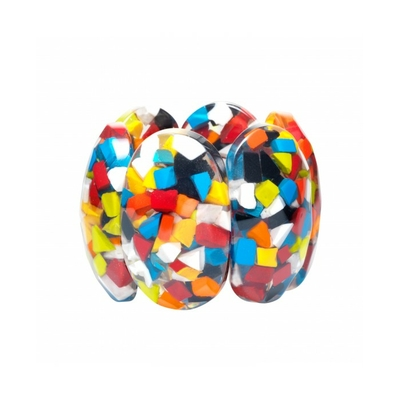 Bracelet confettis multi couleurs résine Marion Godart
