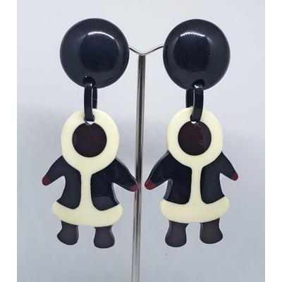 Boucles d'oreilles clips esquimau résine MARION GODART