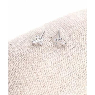 Boucles d'oreilles clous croix argent acier inoxydable Milë Mila