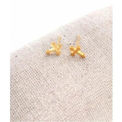 Boucles d'oreilles clous croix doré acier inoxydable Milë Mila