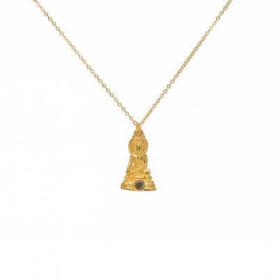 Collier doré pendentif bouddha et labradorite - Lucky Team