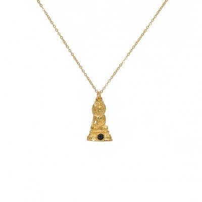 Collier doré pendentif bouddha et onyx noire - Lucky Team