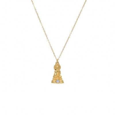 Collier doré pendentif bouddha et rainbow - Lucky Team
