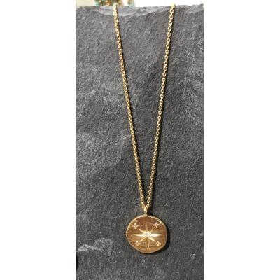 Collier Hope Médaille Néo or - Hanka ïn