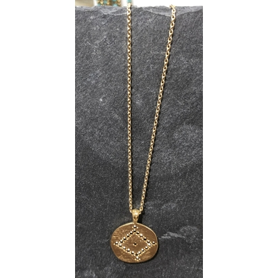 Collier Hope médaille Ajna or - Hanka In