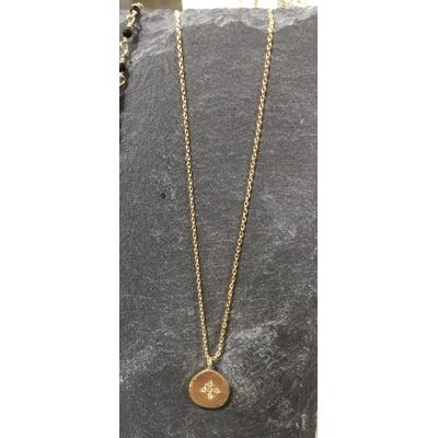 Collier Hope médaille Cross Zirconium or - Hanka In