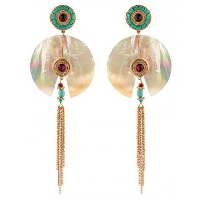 Boucles d'oreilles clips originales cristal Swarovski | nacre Collection Fujita - Satellite Paris