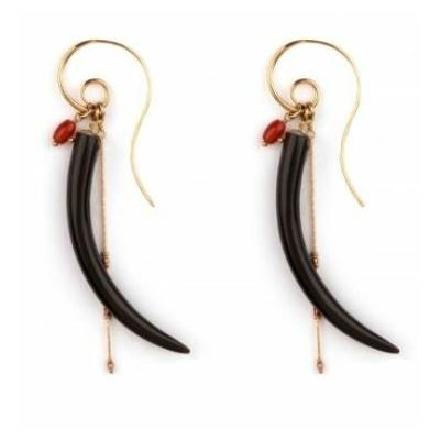 Boucles d'oreilles percées tendance piment | noir Collection Sirine - Satellite Paris