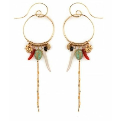 Boucles d'oreilles percées mode charms amazonite | multicolores Collection Sirine - Satellite Paris