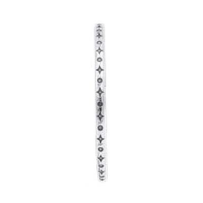 Bracelet jonc modèle TJO14 en zamak argent SHABADA
