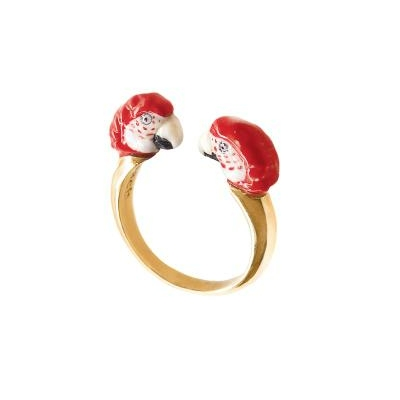 "Bague FaceToFace Perroquet Rouge ""CANCÚN"" BB66 NACH"